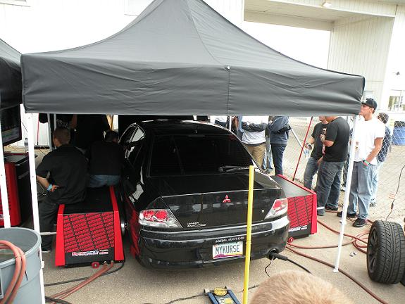 Spectators and competitors alike were able to put their cars on the dyno for horsepower and torque measurements.