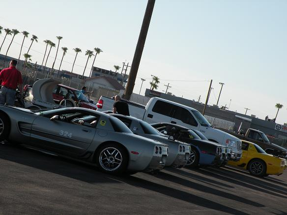 Arizona Corvette Racers were out in strong force, taking a track record and filling up most of the Big Bore TT Group.