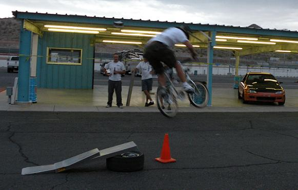All sorts of fun activities happen after hours at PIR!  Tage does his best Cru Jones impression.
