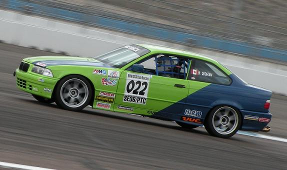 Kelly Olohan came out for both days to race at PIR and support BMWCCA.
