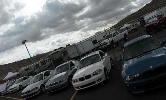 The BMWCCA run sessions were full to capacity all weekend.