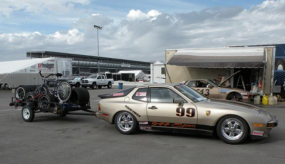 Doin' it old school--driving the race car to the track!  In this case, to the 2009 NASA Championships.