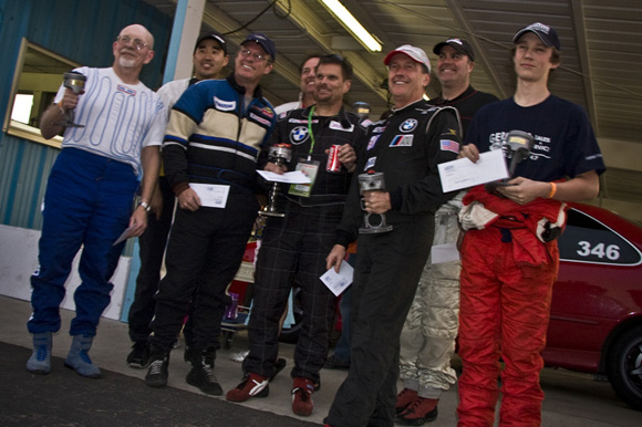 Class winners from the 3-hour enduro.