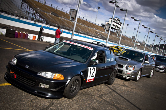 Time Attack entrants lined up in grid for the season shootout!