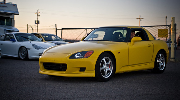 Bright and early... yellow S2k!