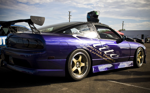 Some of the most shiny stickers in HPDE, 240SX driven by Yahasmin Soto.