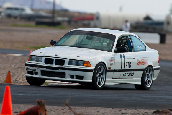 Jeremy running his PTB E36 BMW M3