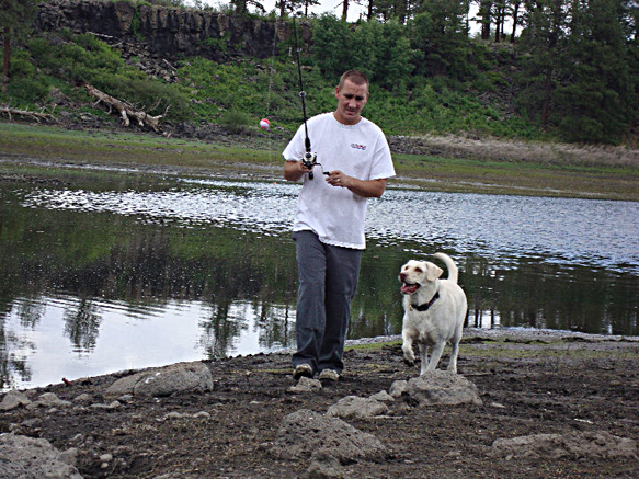 Jeremy and his Lab Lily 'Gone Fish'n'