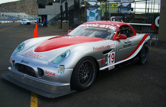 The Panoz driven by Steve Lisa makes a comeback at PIR